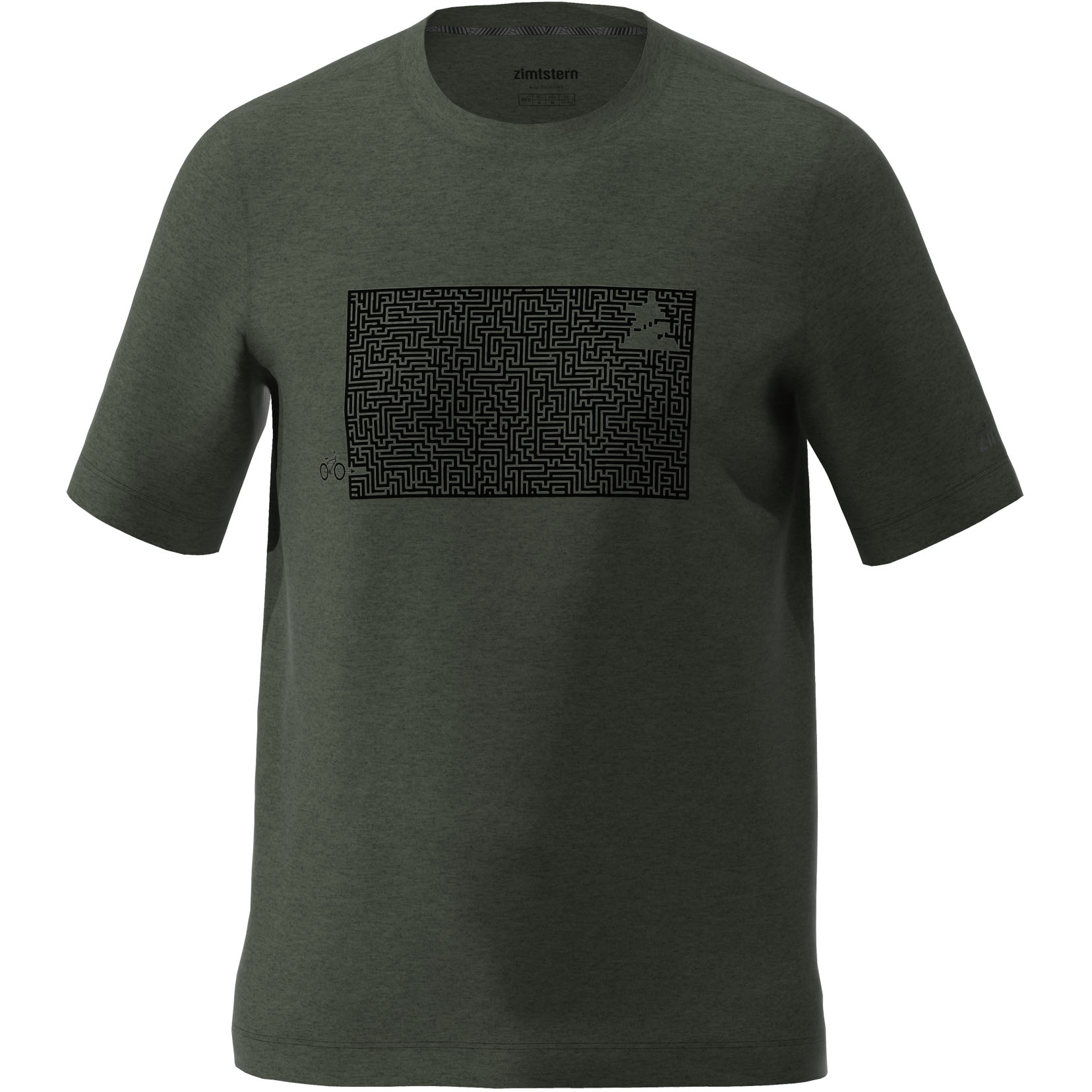 Zimtstern Shiningz T-Shirt - forest night melange