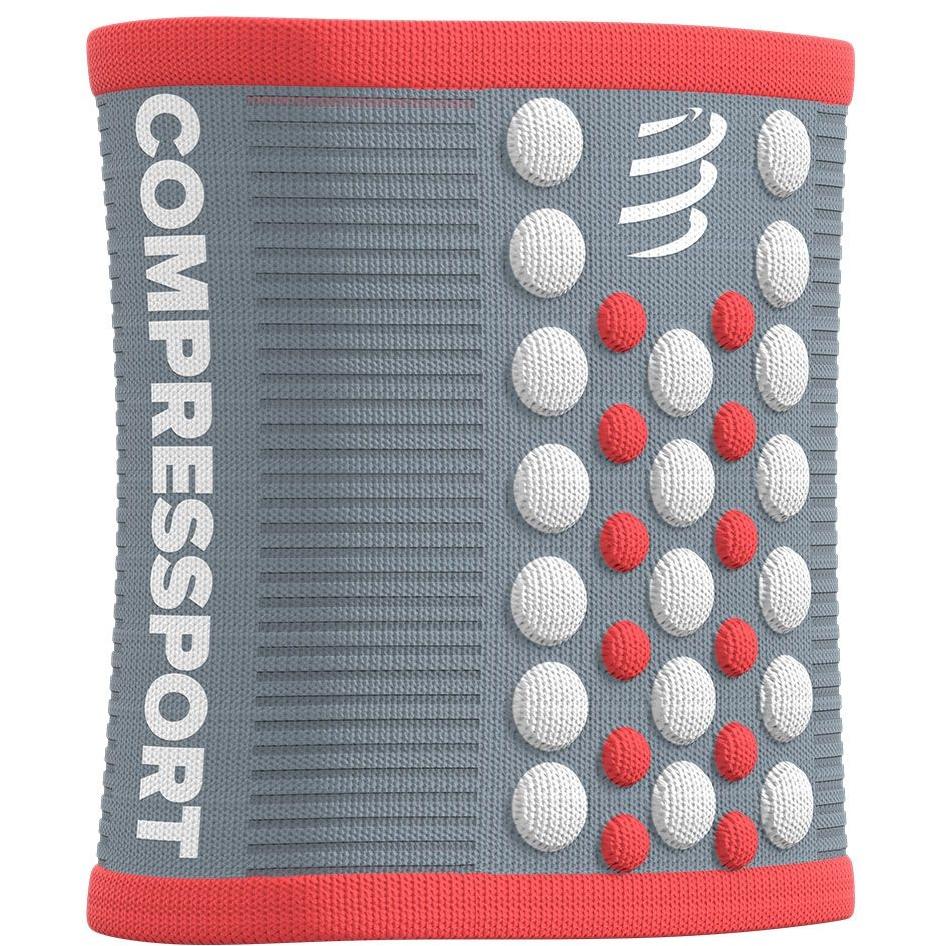 Compressport Muñequera 3D.Dots - grey/coral