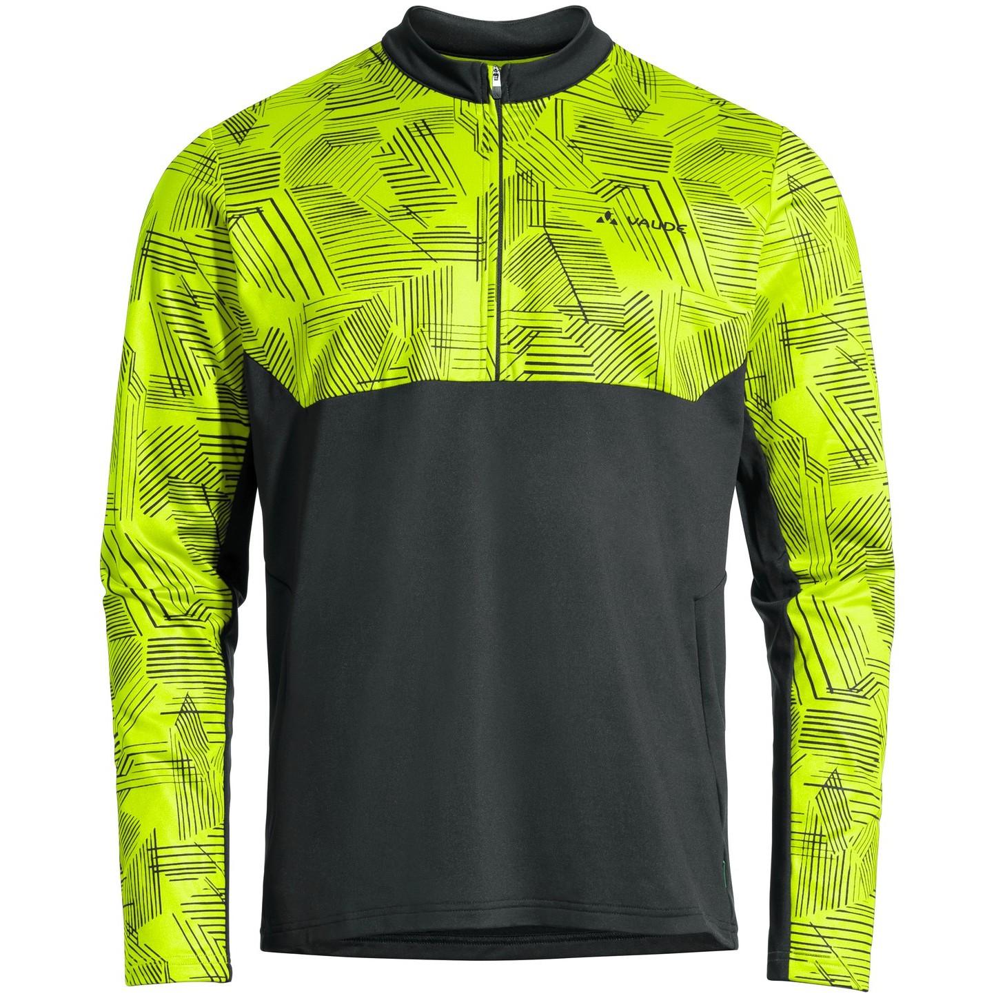 Vaude Virt QZip LS T-Shirt - neon gelb