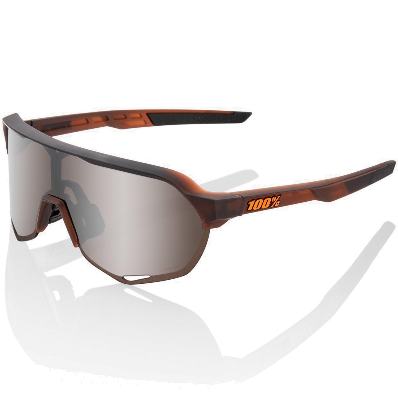 100% S2 HiPER Mirror Gafas - Matte Translucent Brown Fade/Silver + Clear
