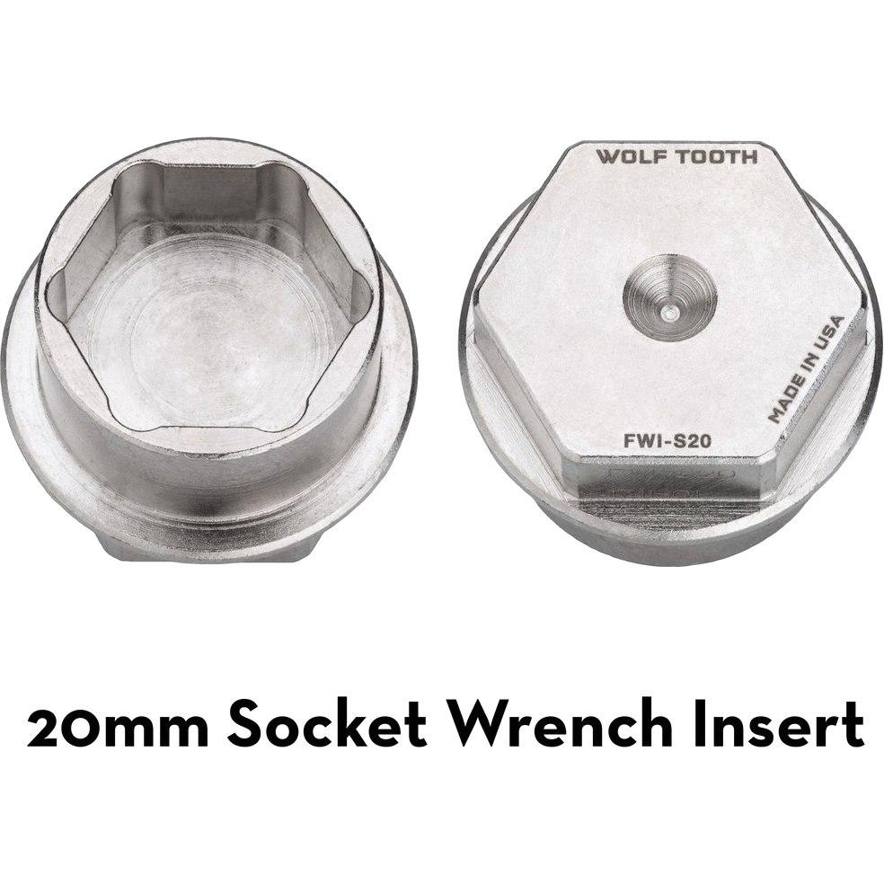 Bild von Wolf Tooth Ultralight 20mm Steckschlüssel Einsatz FWI-S20