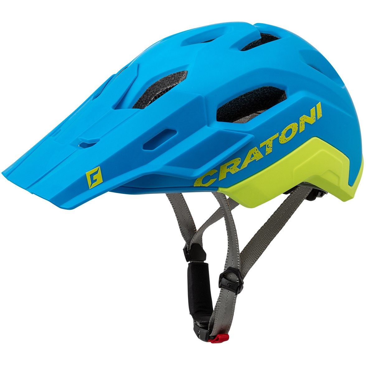 CRATONI C-Maniac 2.0 Trail Helmet - blue-lime matt