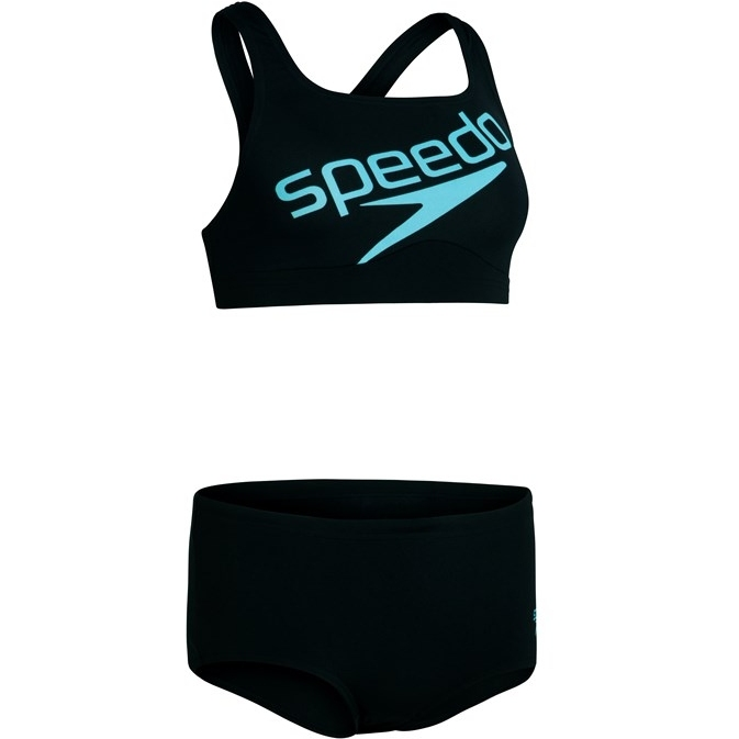 Speedo Boom Logo Placement 2PC Bikini - black/light adriatic