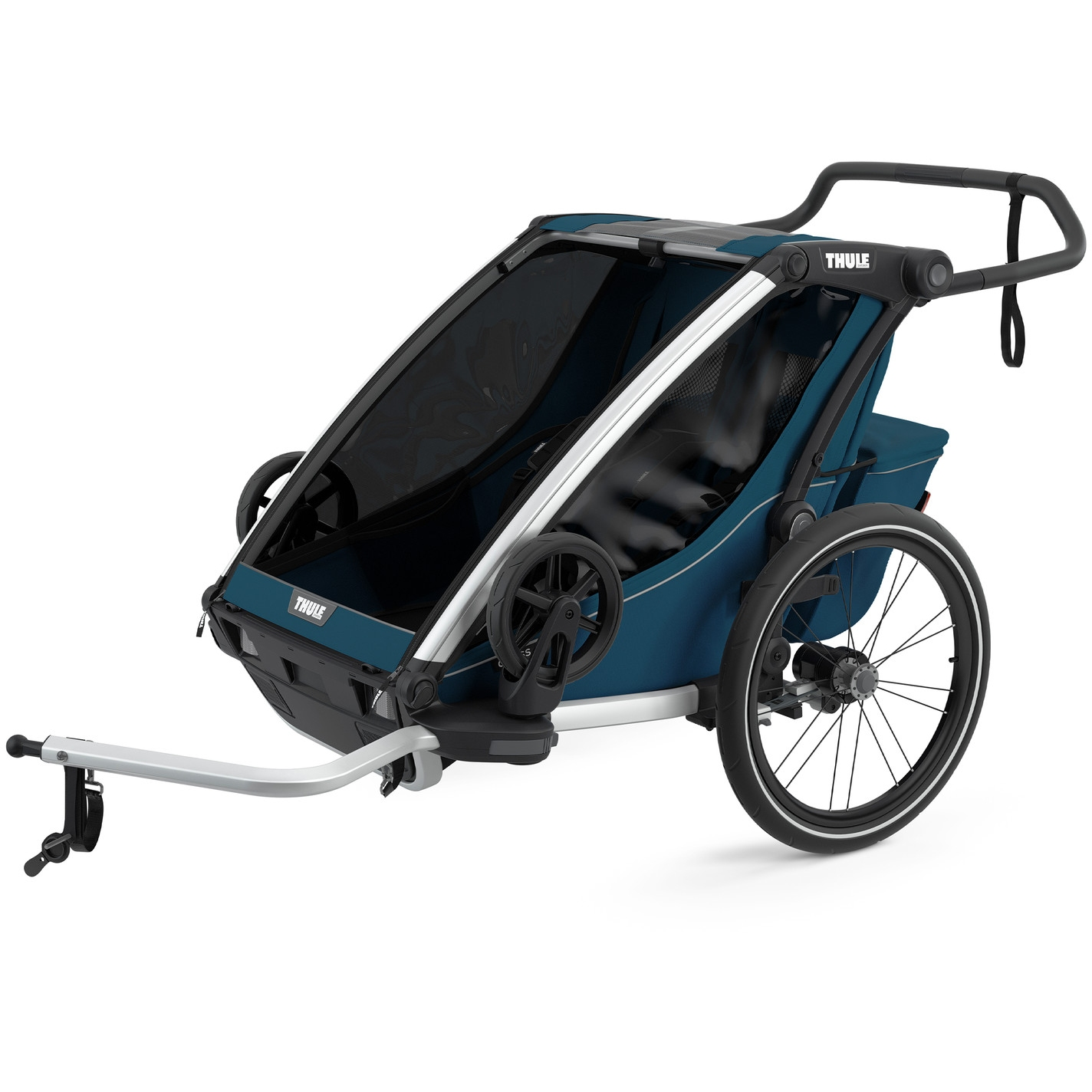 Foto de Thule Chariot Cross 2 - Remolque de bicicleta para 2 niños - majolica blue