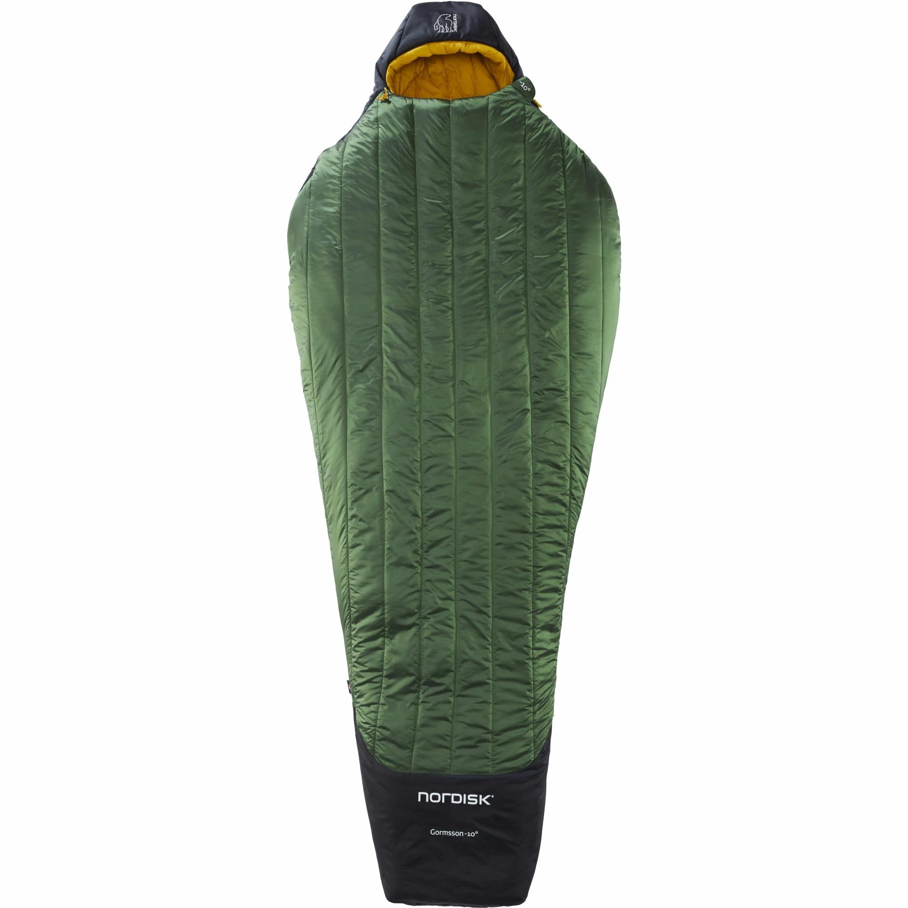 Nordisk Gormsson -10° Mummy Sleeping Bag L - artichoke green/mustard yellow/black