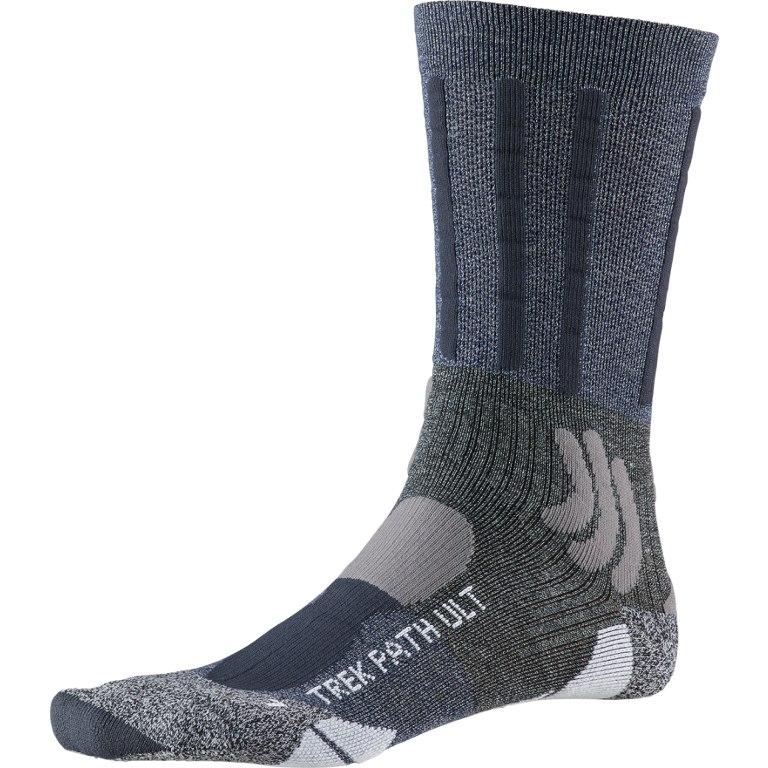 X-Socks Trek Path Ultra LT Socks - midnight blue/dolomite grey