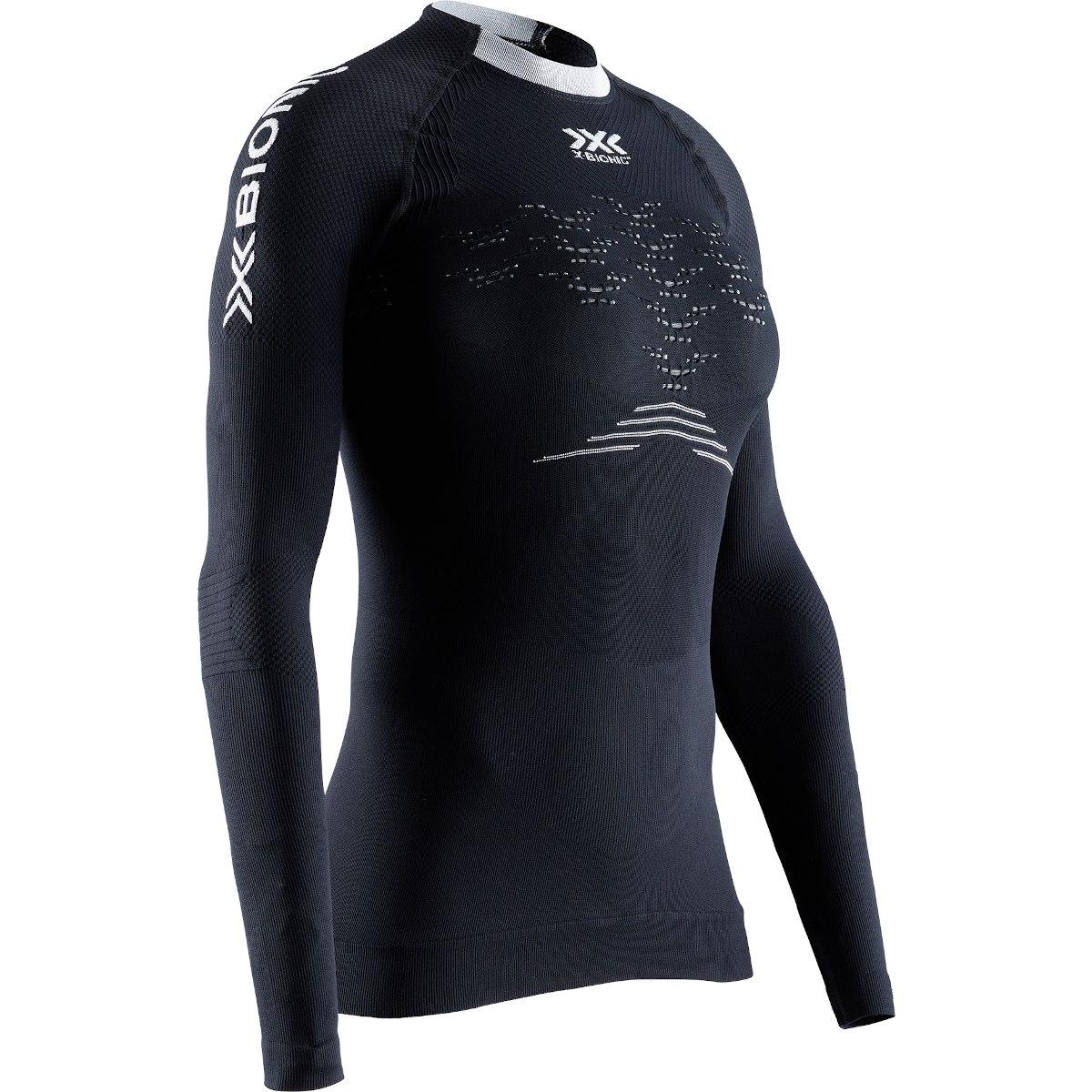 X-Bionic The Trick 4.0 Run Langarm-Laufshirt für Damen - opal black/arctic white
