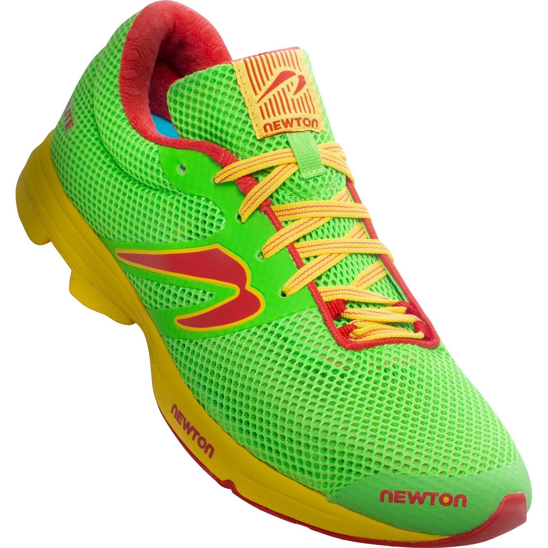 Newton Running Distance Elite Zapatillas Running - verde/rojo