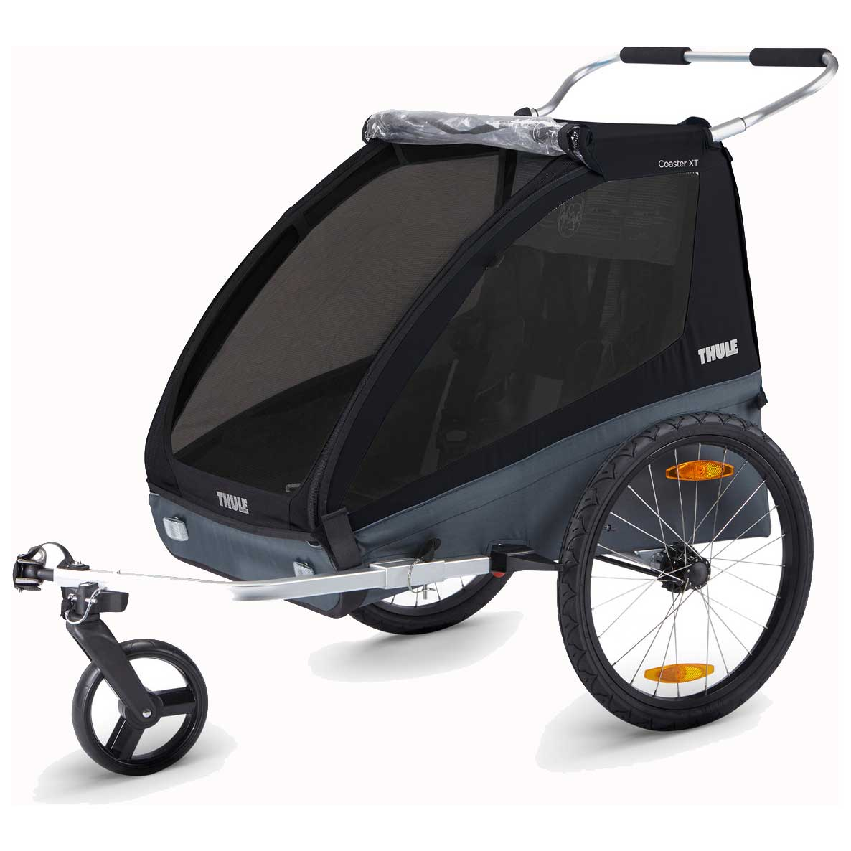 Thule Coaster XT Fahrradanhänger für 1-2 Kinder - Fahrrad + Buggy Set - schwarz