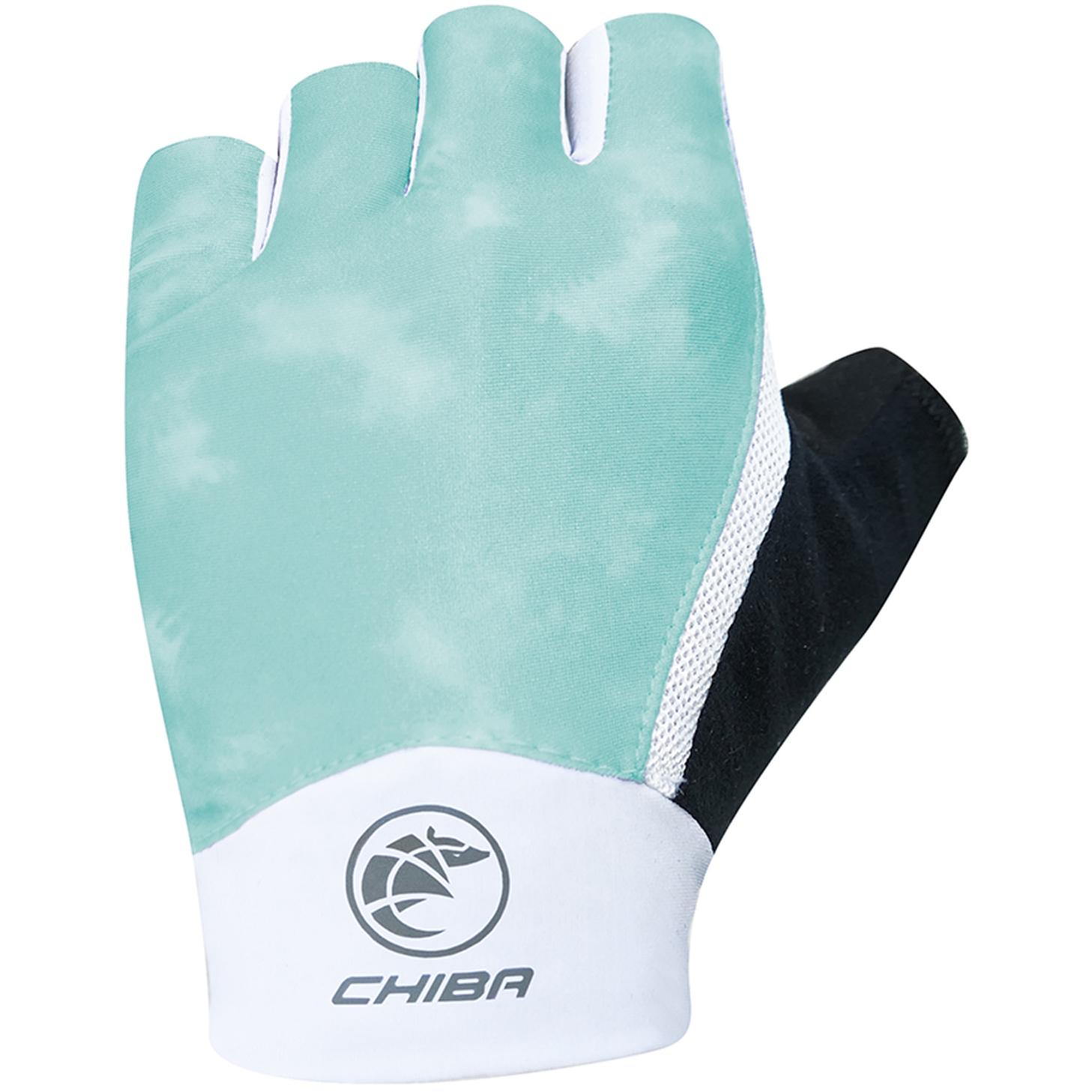 Chiba Tie Dye Bike Gloves Women - petrol