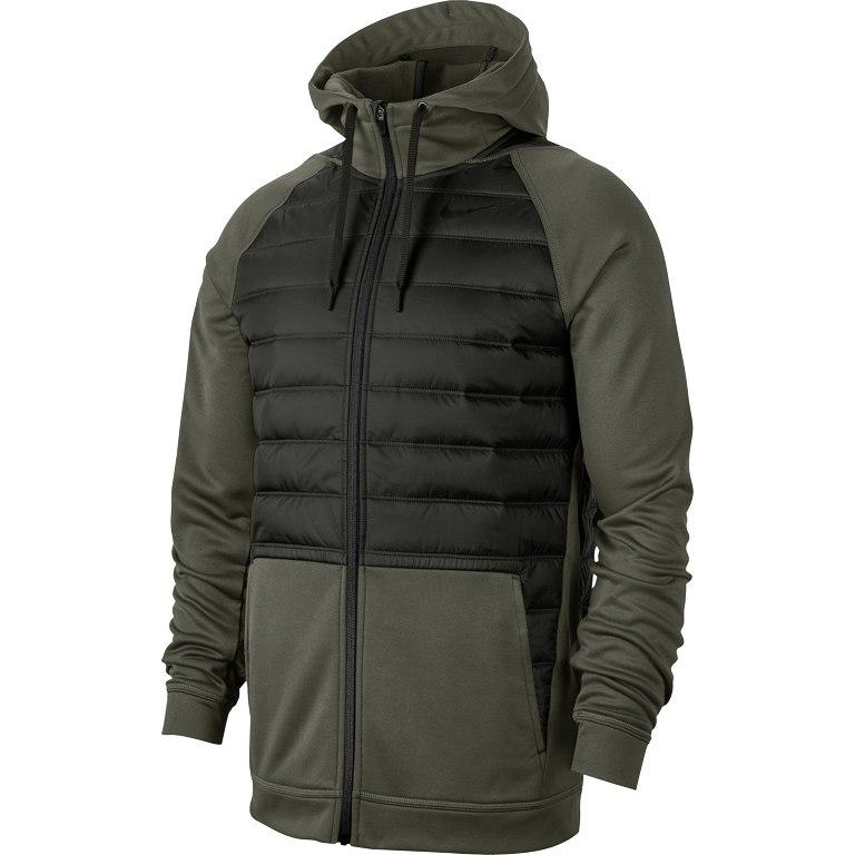 Foto de Nike Therma Full-Zip Training Chaqueta con capucha para hombre - cargo khaki/sequoia/black 325