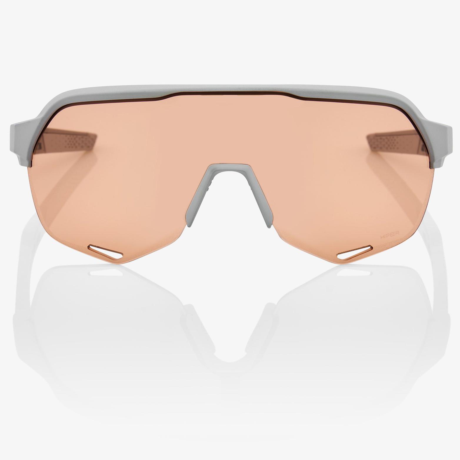 Imagen de 100% S2 HiPER Lens Glasses - Soft Tact Stone Grey/Coral + Clear