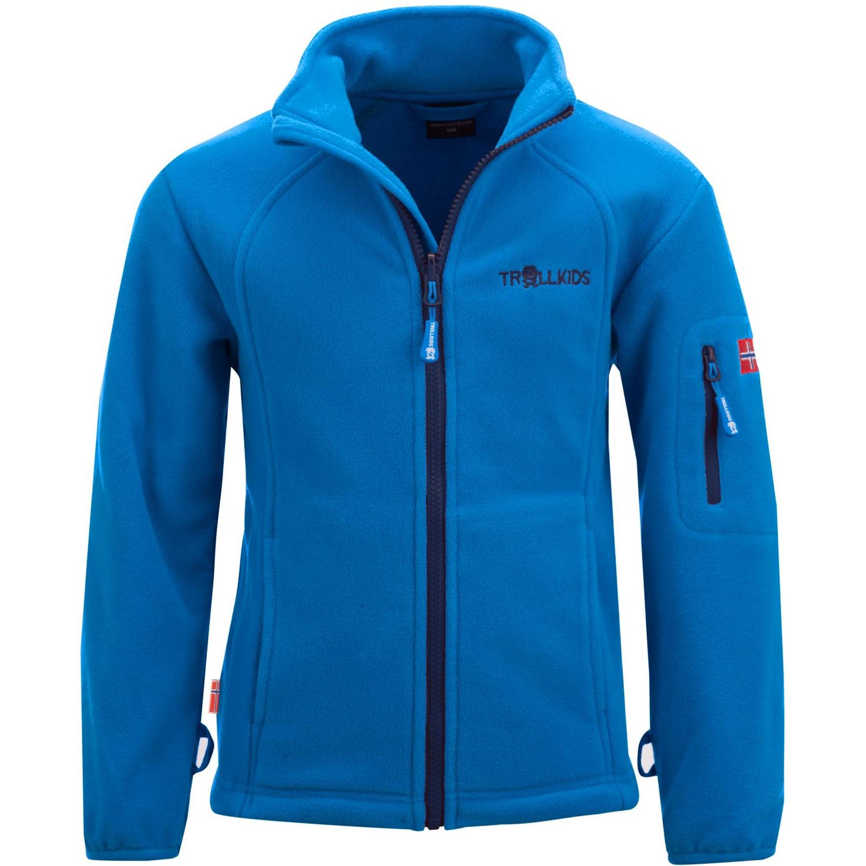 Produktbild von Trollkids Arendal PRO Kinder Fleece-Jacke - azure blue/navy