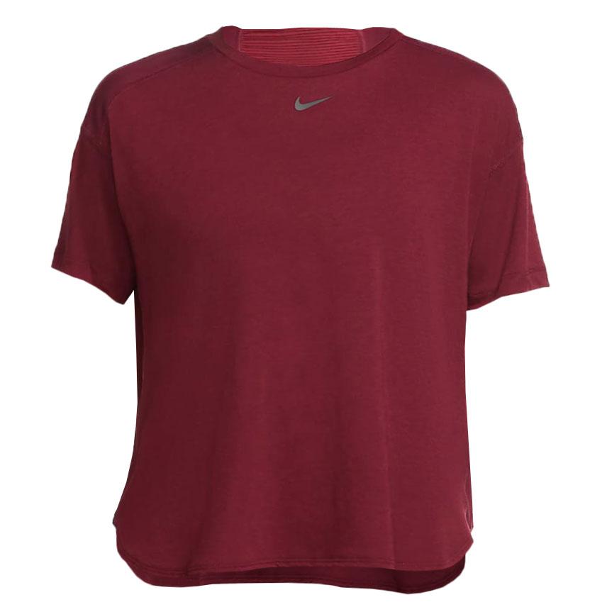 Foto de Nike Pro AeroAdapt Camiseta para mujer - dark beetroot/metallic silver CU5522-683