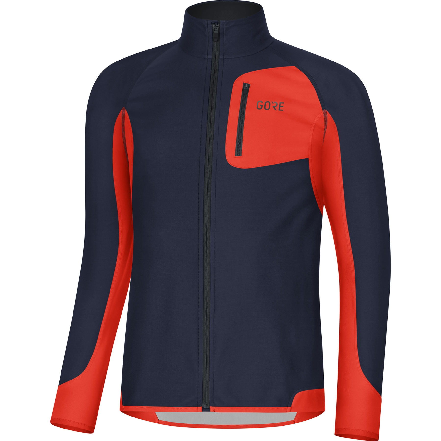Produktbild von GORE Wear R3 Partial GORE® WINDSTOPPER® Shirt - orbit blue/fireball AUAY