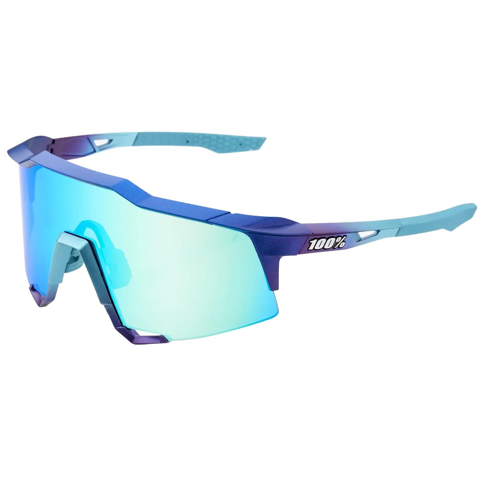 100% Speedcraft - Tall - Mirror Lense Gafas - Matte Metallic Into the Fade/Blue Topaz Multilayer + Clear