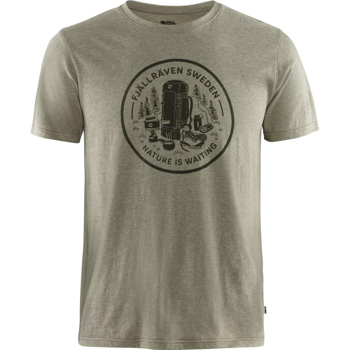 Fjällräven Fikapaus T-Shirt - light olive/melange