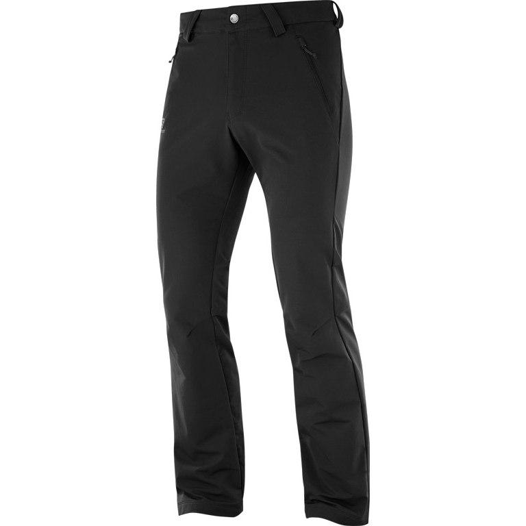 Salomon Wayfarer Warm Straight Pantalones para hombre - black / regular