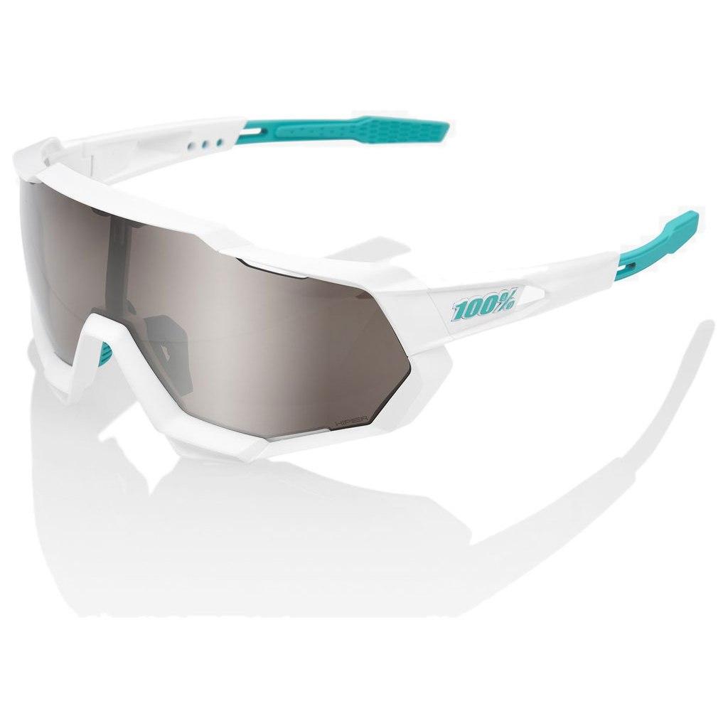 100% Speedtrap HiPER Silver Mirror Lens - BORA-hansgrohe Special Edition - Team White