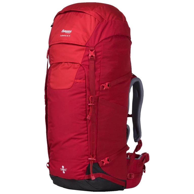 Bergans Trollhetta V5 W 75 Women's Backpack - Red / Fire Red