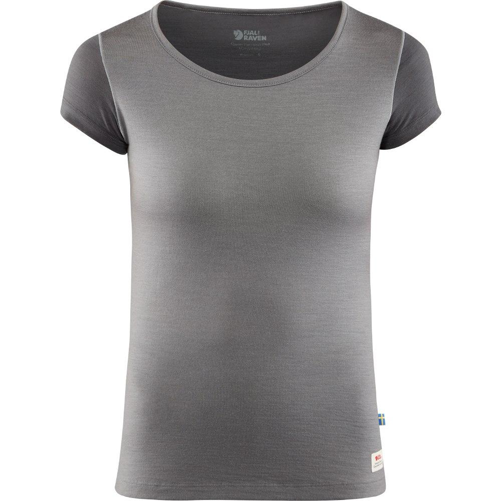 Fjällräven Keb Wool T-Shirt Women - light grey/grey
