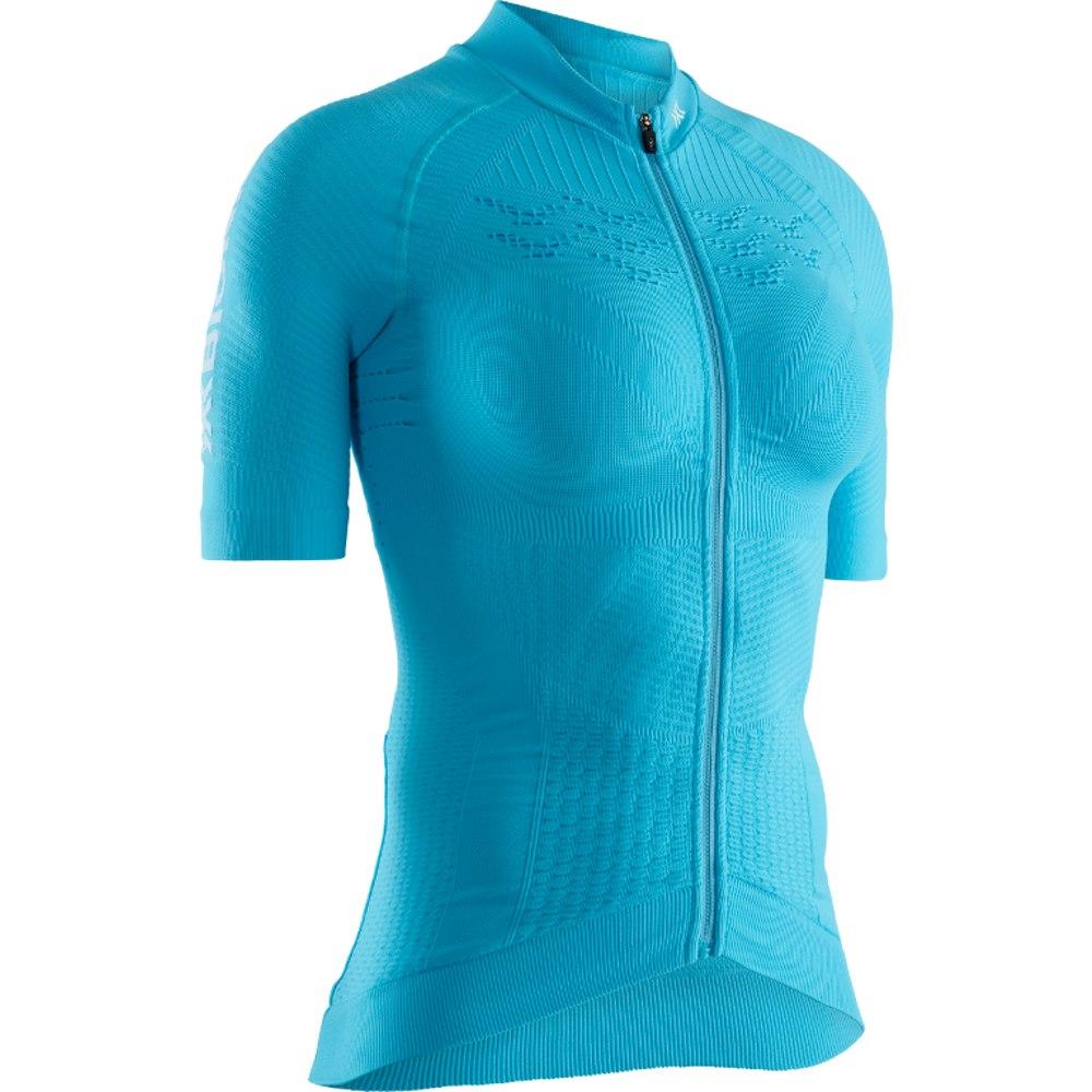 X-Bionic Effektor 4.0 Bike Full Zip Shirt Short Sleeves for Women - effektor turquoise/arctic white