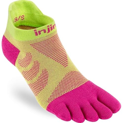 Produktbild von Injinji Women's Ultra Run No-Show Coolmax Socken - melon