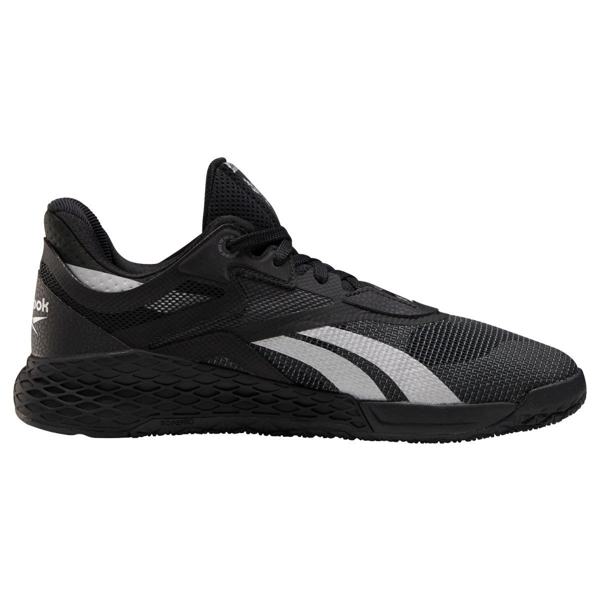 Reebok Männer Nano X Fitness-Schuh - black/silver met./cold grey 6 FY4559