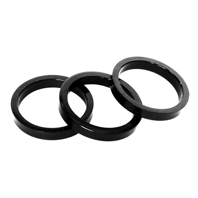 Clarks Headset Spacer 5mm - 1 1/8 Inches (3 pieces) - black