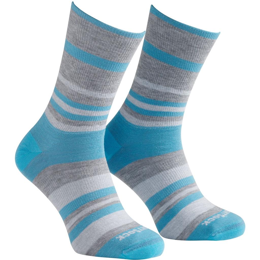 Bild von WRIGHTSOCK Eco Explore Crew Doppellagige Socken - Light Blue Stripes - Crew Length 896-57