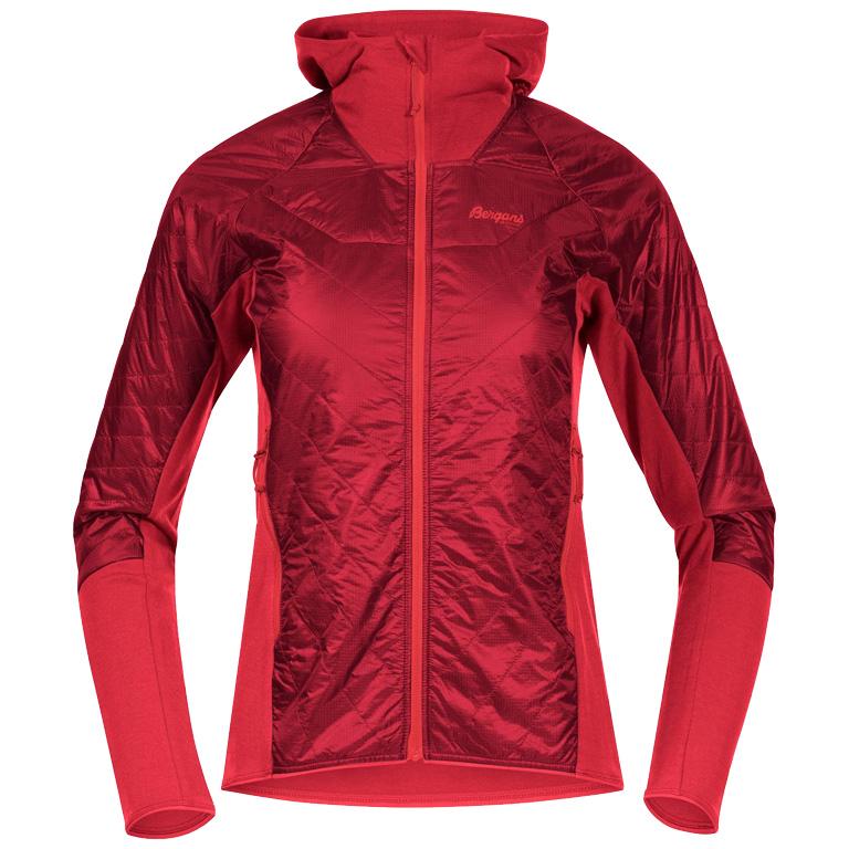 Produktbild von Bergans Cecilie Light Insulated Hybrid Damenjacke - dahlia red/light dahlia red