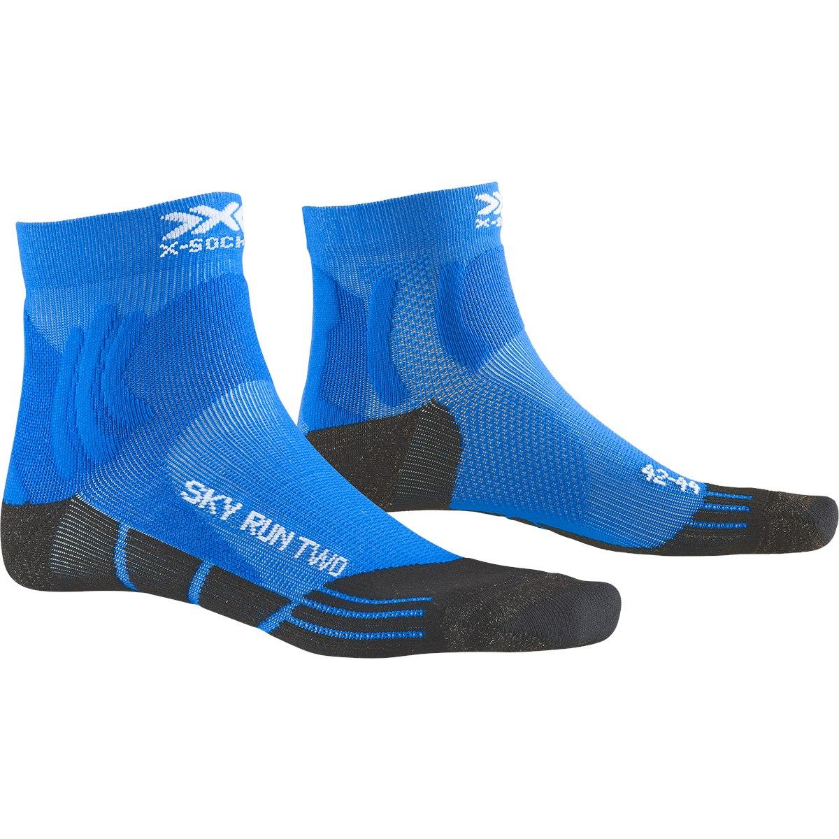 X-Socks Sky Run Two Laufsocken - twyce blue/anthracite
