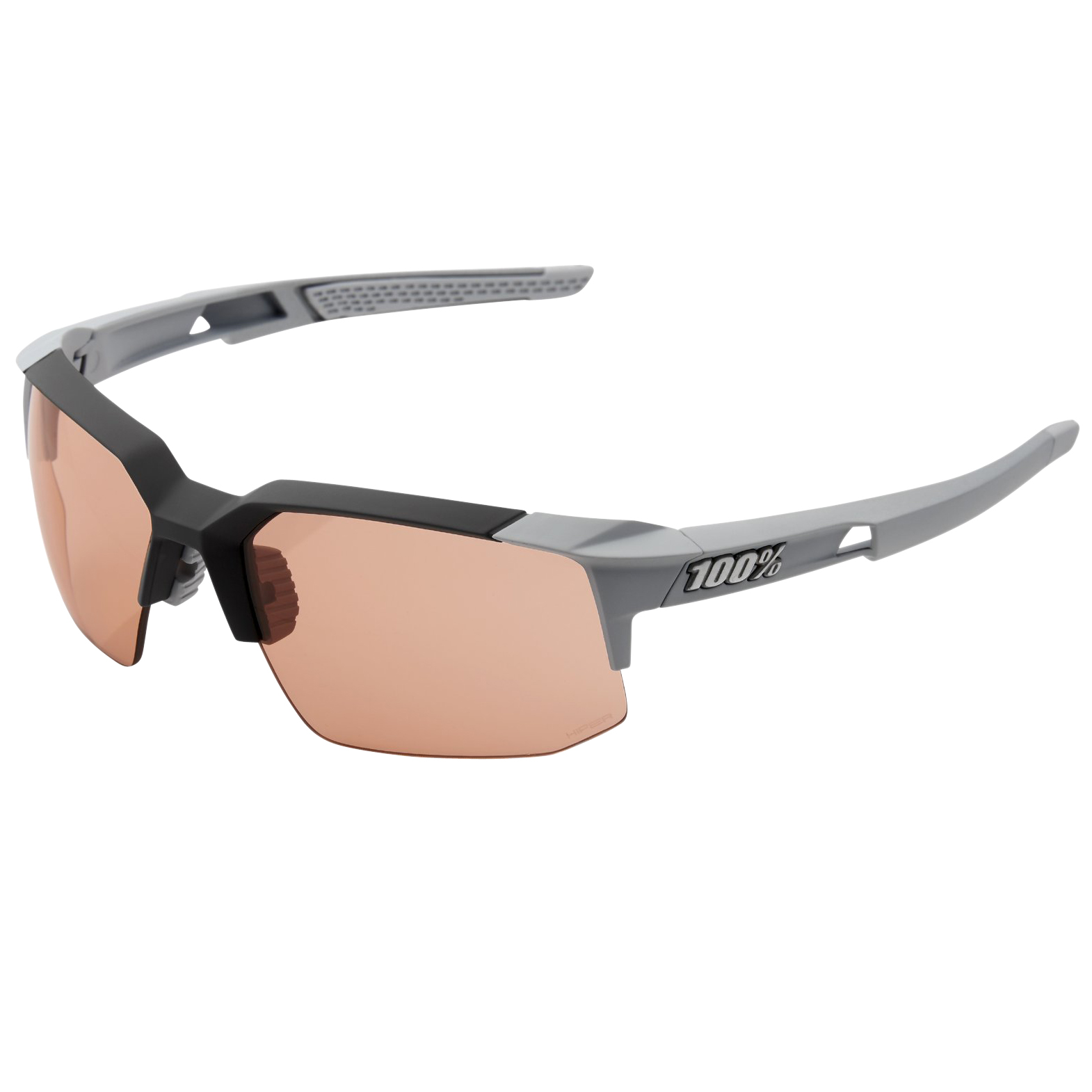 100% Speedcoupe HD Multilayer HiPER Lens - Soft Tact Stone Grey/Coral + Clear