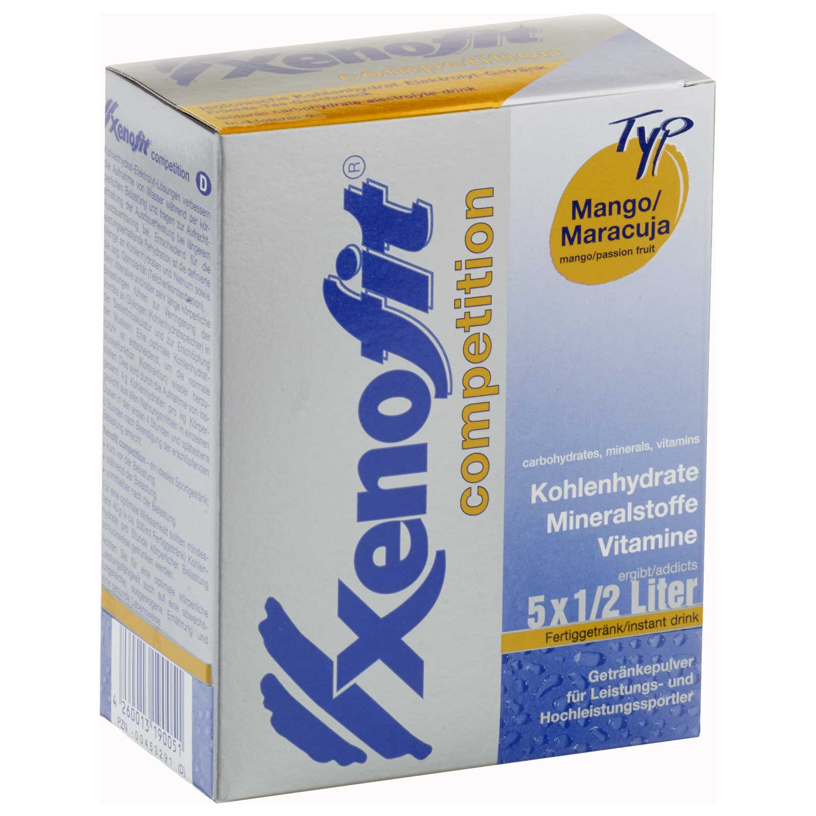 Bild von Xenofit Competition Mango/Maracuja - Isotonisches Kohlenhydrat-Getränk - Vorteilspack + Trinkflasche