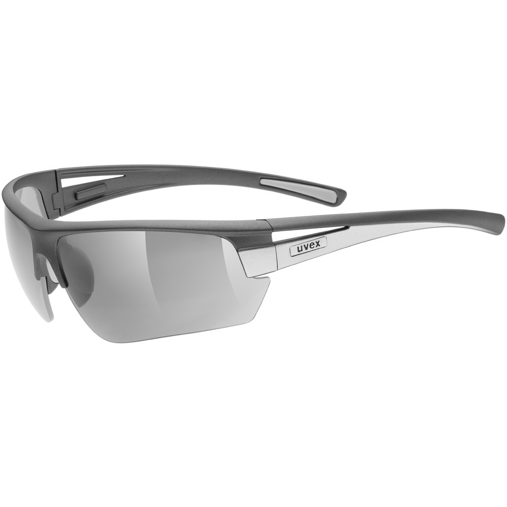 Uvex gravic Glasses - dark grey mat/litemirror silver + litemirror orange + clear