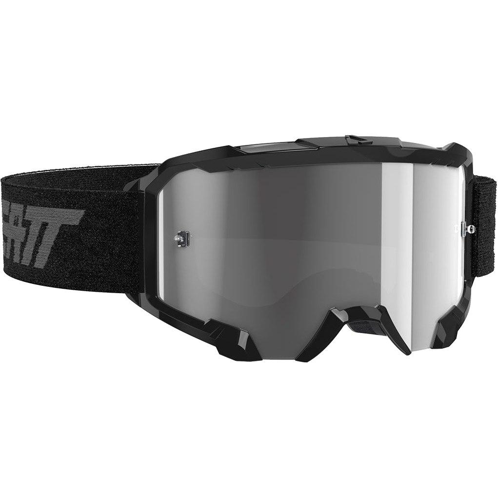 Leatt Velocity 4.5 Goggle Brille - black / light grey - anti fog lens
