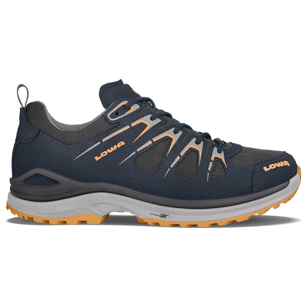 LOWA Innox Evo GTX Lo Women's Shoe - steel blue/mandarin
