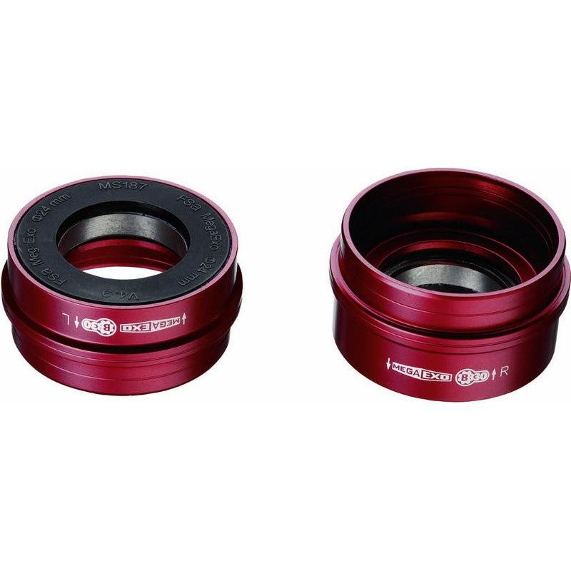 FSA Road M3 Ceramic Bottom Bracket Adaptor for MegaExo Road NBD Cranksets on BB30 Frames BB42-68-24