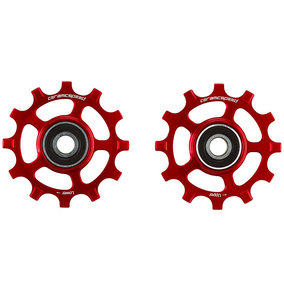 CeramicSpeed Pulley Wheels for SRAM Red / Force AXS - 12 speed - red