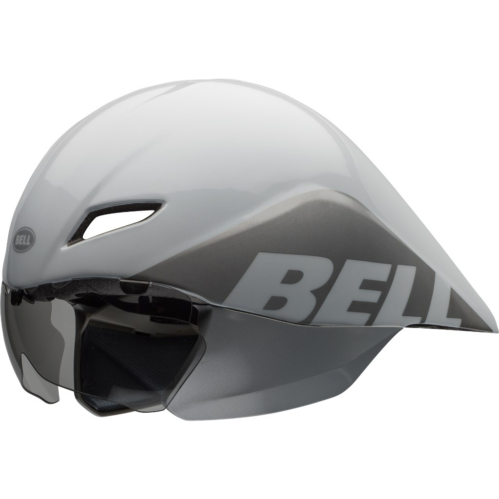 Image of Bell Javelin Time Trial Helmet - white/silver team