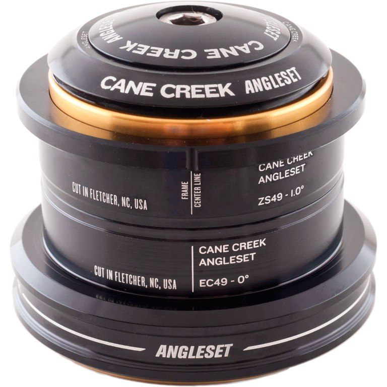 Cane Creek AngleSet Kit ZS44   EC49 Complete Headset 1 1/8 Inches + Tapered - ZS44/28.6   EC49/30+40