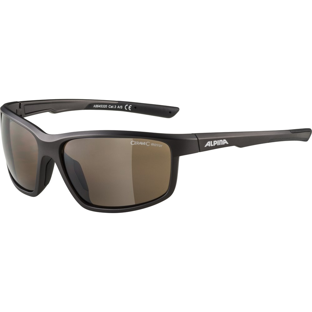 Alpina Defey Glasses - tin matt-black / brown mirror