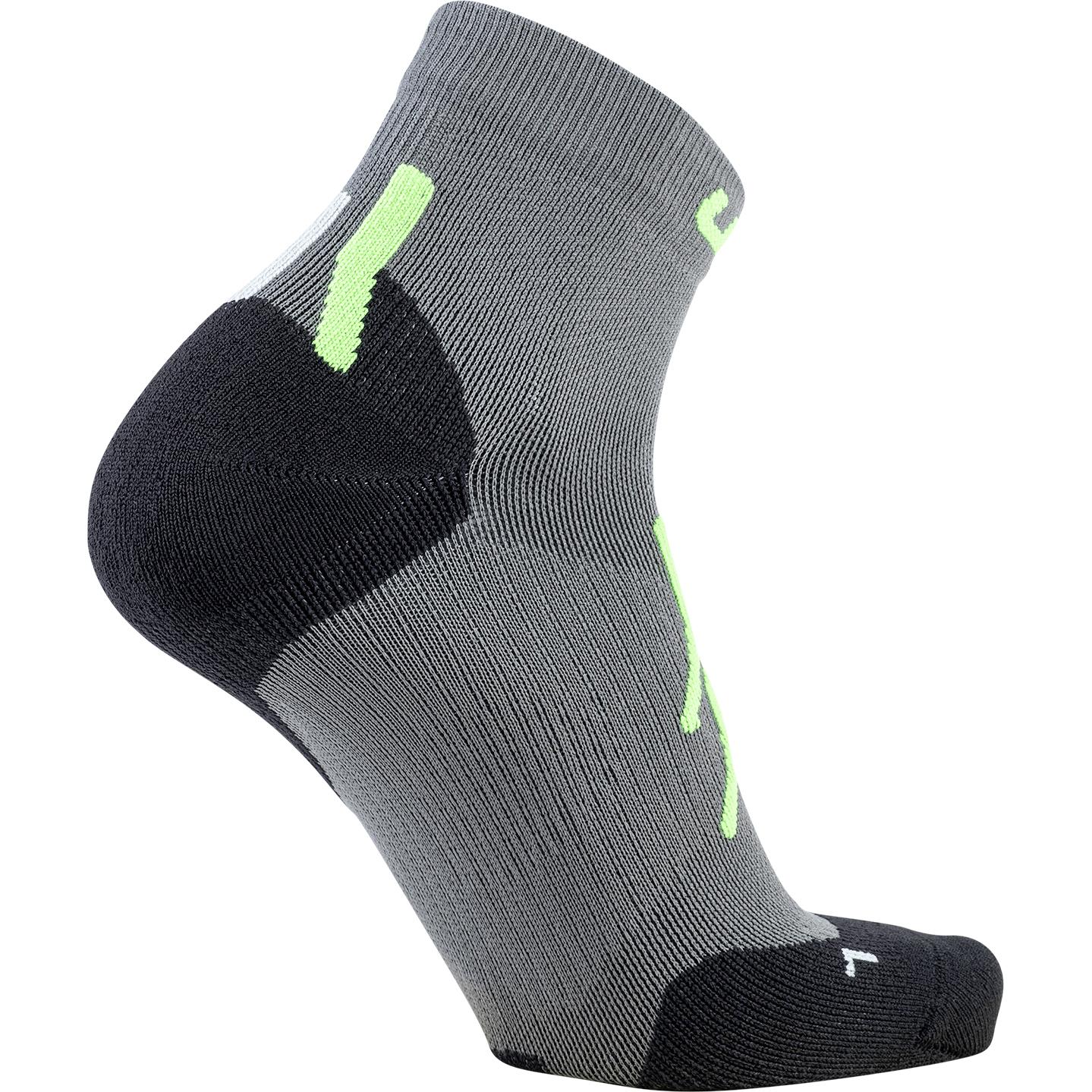 Image of UYN Trekking Approach Low Cut Socks - Grey/Green