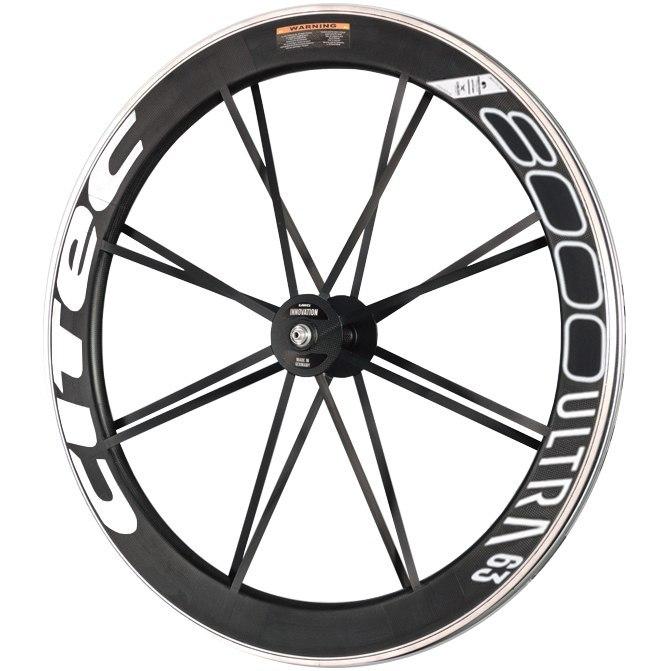 Image of CITEC 8000 SL / 63 Ultra 28 Inch Front Wheel - Clincher - 9x100mm QR - white/black