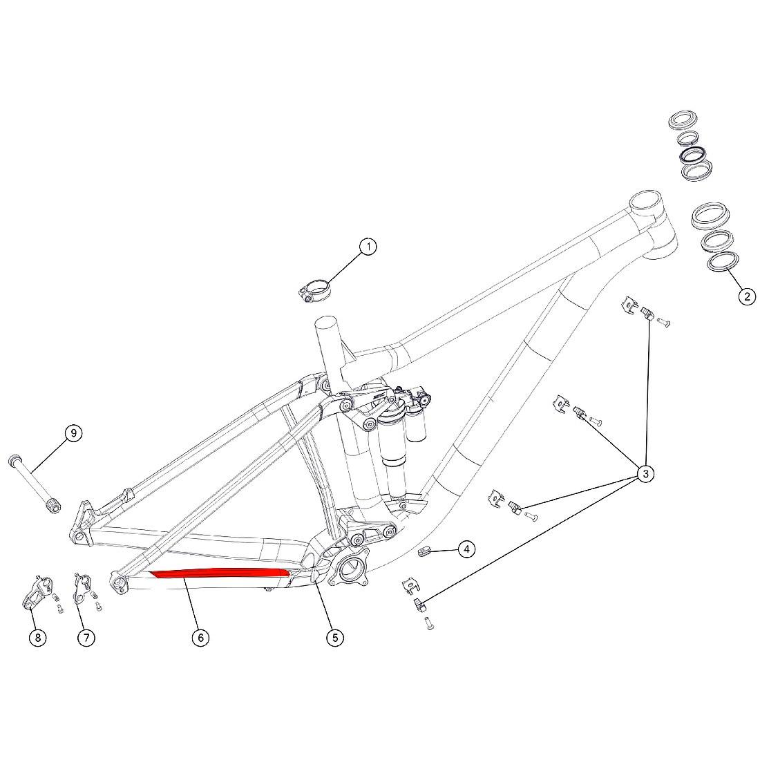 BMC Chainstay Protector for Trailfox 02 / 03 (MY 2018) - 301186 - black