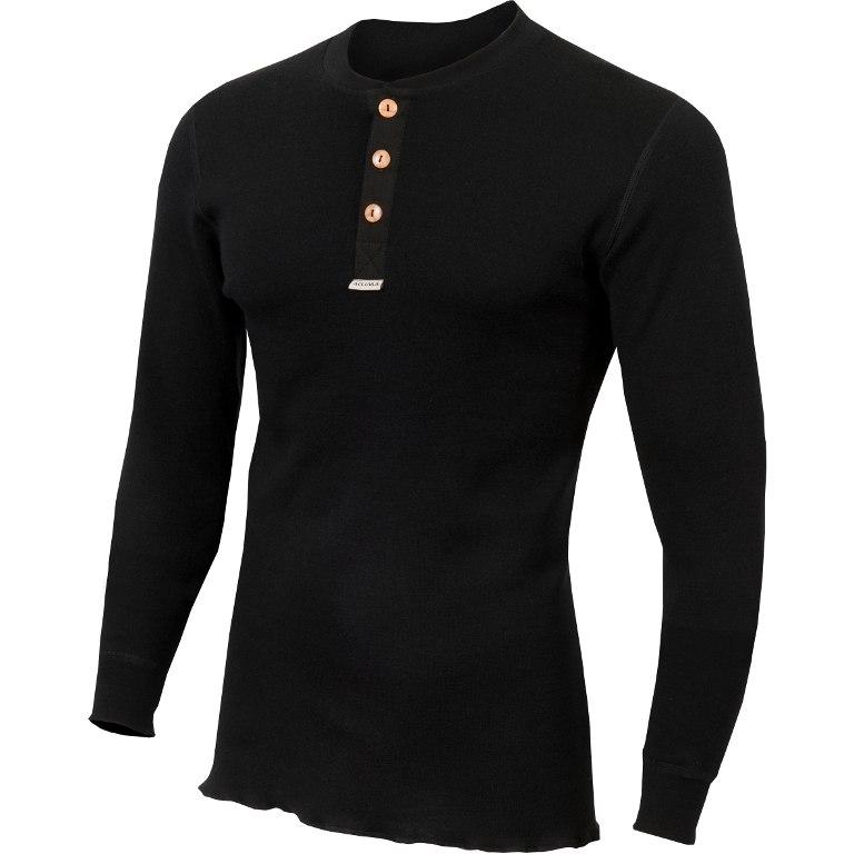Aclima Warmwool Granddad Shirt - jet black