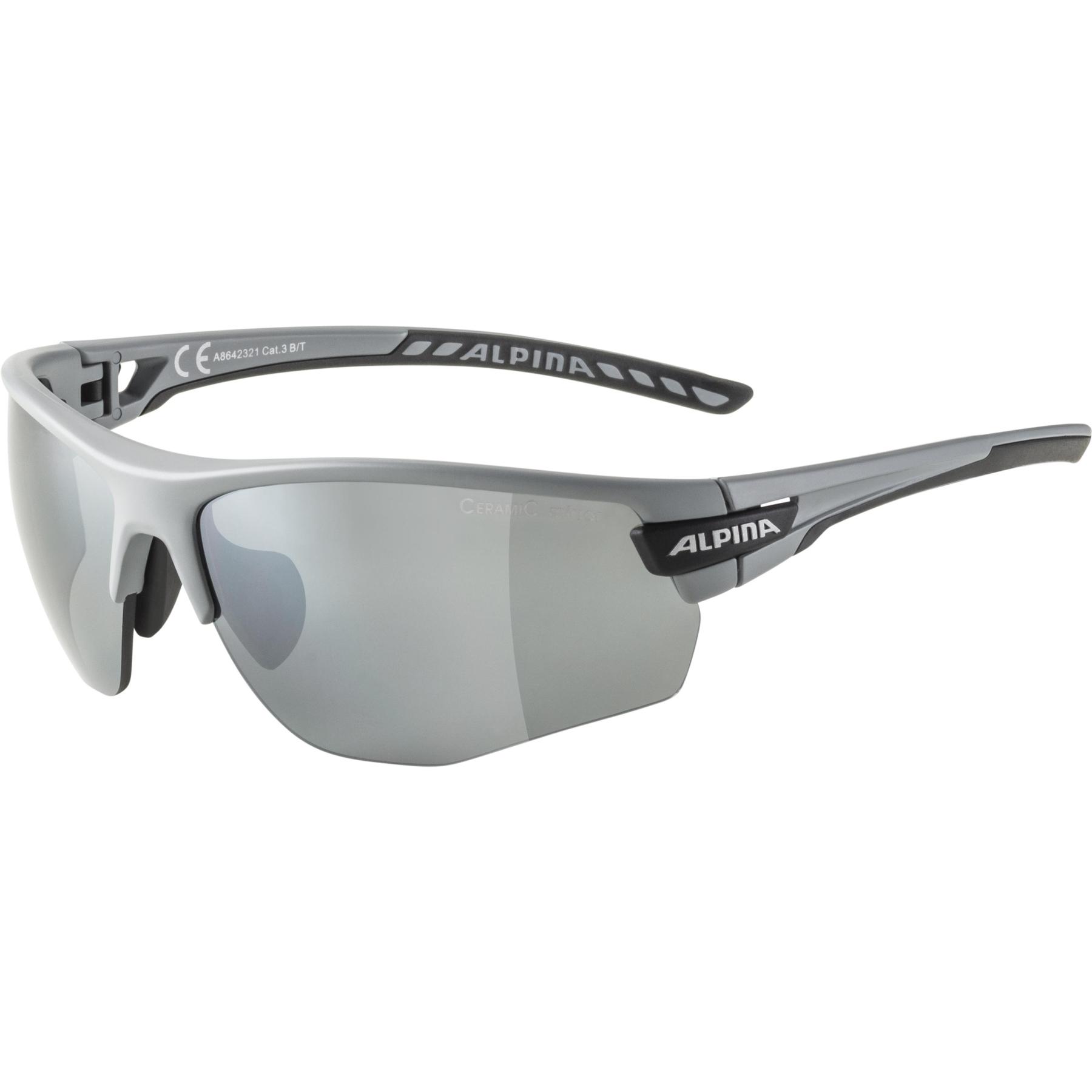 Alpina Tri-Scray 2.0 HR Glasses - grey matt  / black mirror + orange mirror + clear