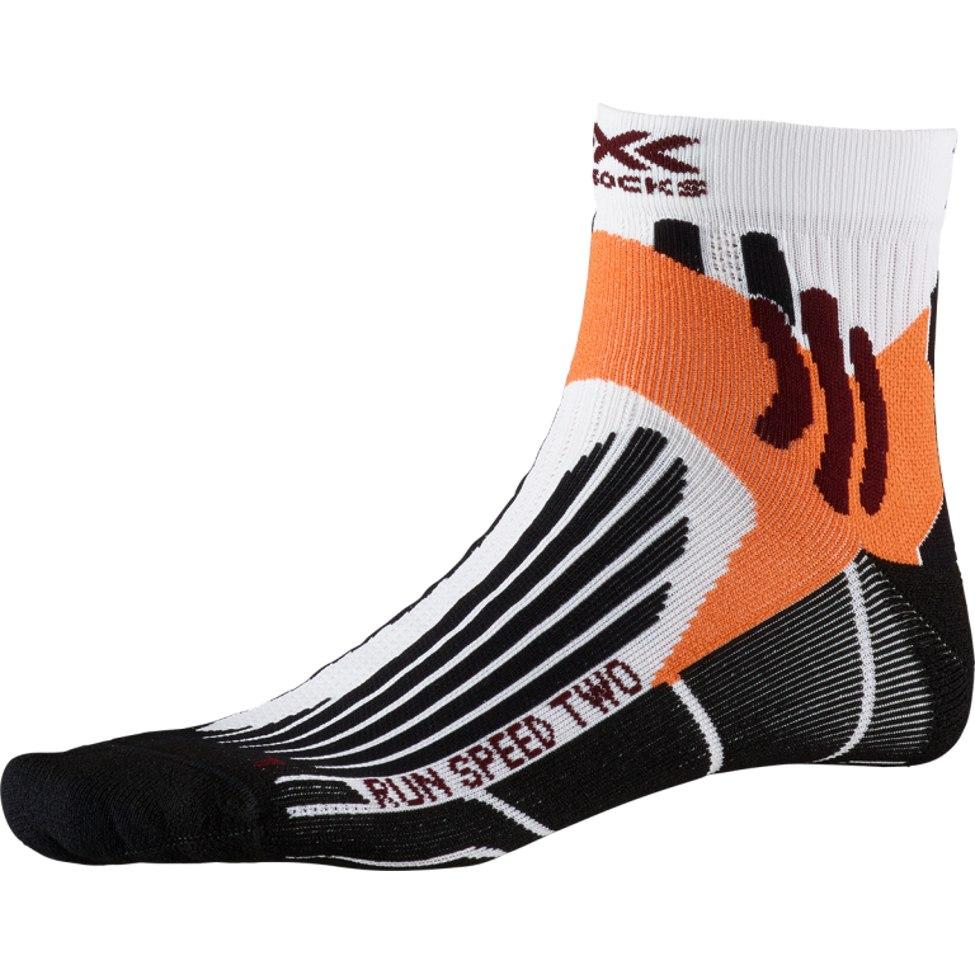 X-Socks Run Speed Two Socks Laufsocken - arctic white/opal black