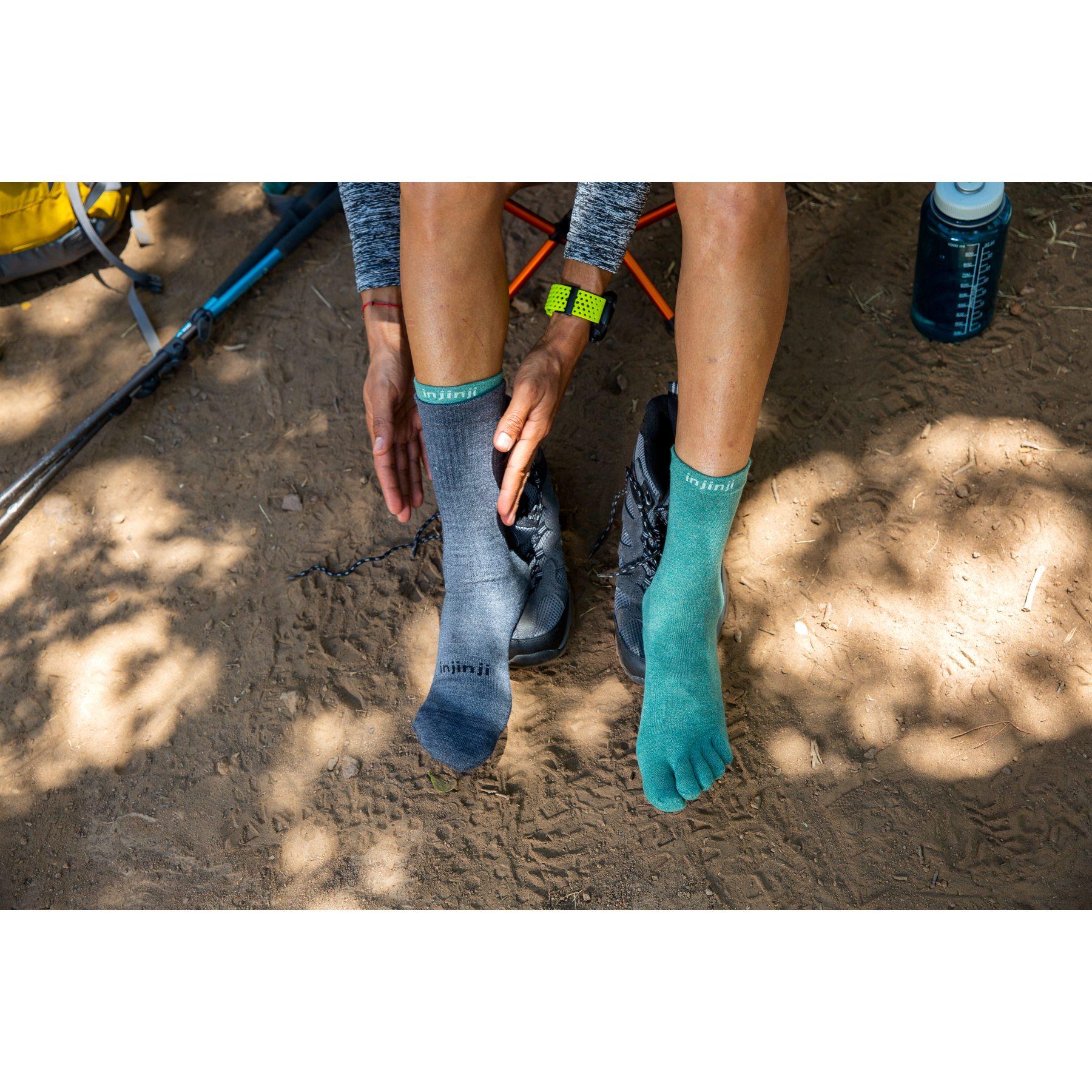 Image of Injinji Liner Crew Coolmax® Socks - snapper