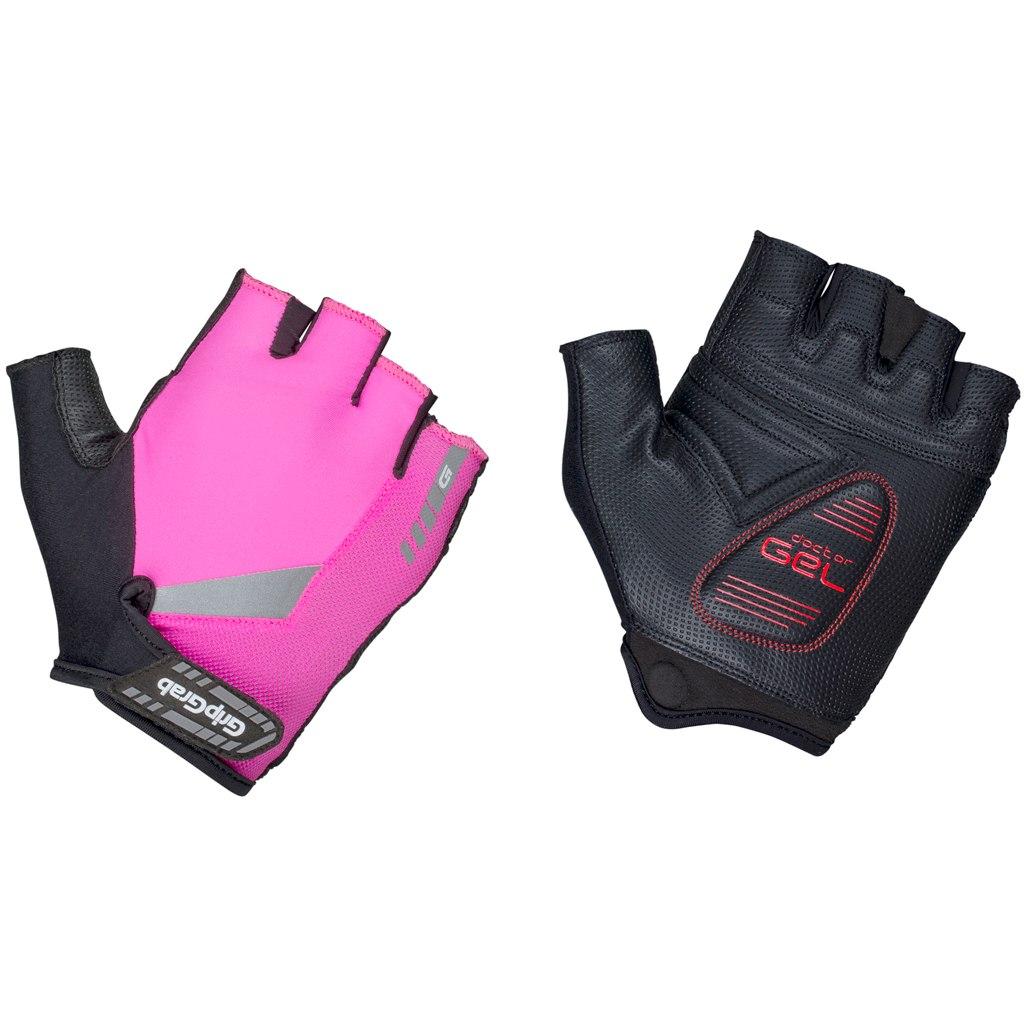 GripGrab ProGel Hi-Vis Padded Short Finger Glove - Pink Hi-Vis